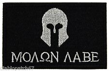 MOLON LABE Military Morale Biker Outlaw Patch Size: 3x2""