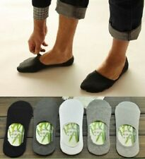 1 Pair Men Cool Invisible Bamboo Fiber Loafer Boat Liner Low Cut Nonslip Socks