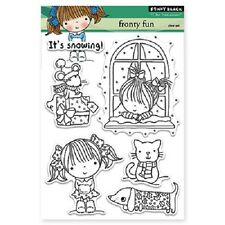 PENNY BLACK RUBBER STAMPS CLEAR FROSTY FUN WINTER STAMP SET