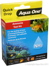 Aqua One A1-92053 Quick Drop Ammonia NH3 Test Kit Fish Tanks Marine Aquariums