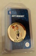 NBA Boston Celtics Gold Tone Round GIFT MAGNET w Celtics Logo by WinCraft - NIP!