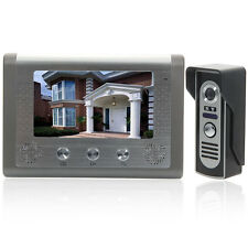 "7"" Wired Video Door Phone Doorbell Intercom Home Security Night Vision Came"