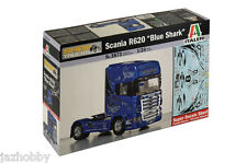 Italeri 3873 1/24 Scale Model Kit Scania R620 V8 Blue Shark 4X2 Show Truck