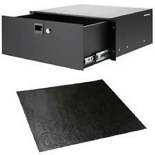4HE Rack-Schublade Stahl + Anti-Rutschmatte Adam Hall Nonslip-Rack-Drawer-Liner