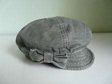 NEW MONSOON ACCESSORIZE KHAKI GREEN BOW RETRO NEWSBOY BAKER BOY CAP BOHO HAT