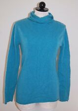 Old Navy 100% Cashmere Turquoise Roll Turtleneck Sweater S