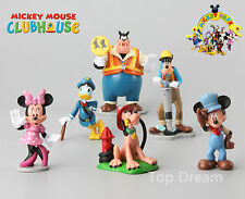 6X Mickey Minnie Mouse Clubhouse Donald Duck Goofy PVC Figures Cake Toppers NEW