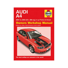 Audi A4 1.8T 2.0 Petrol 1.9 Turbo Diesel 01-04 (X to 54 Reg) Haynes Manual