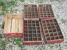 Vintage 5 pcs Coke Coca Cola  Red Wood Crate Box good for decor