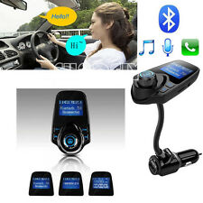 FM Transmitter Bluetooth 3.0 Car Kit USB Charger Streaming Music From Phones T10