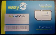 EasyGo Triple Cut Smart SIM - By H2O Wireless Works on AT&T Network. $20/Month
