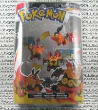 Tomy POKEMON Series 1 3-Pack POKEDEX ID Tags GO TEPIG PIGNITE EMBOAR T18131