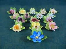 Royal Adderley Floral Set of 16 Place Card Holders All Different