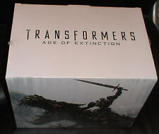 Transformers Age of Extinction Limited Edition Gift Set Grimlock Optimus Blu-ray