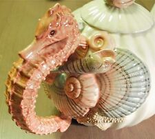 Fitz & Floyd   Vintage Seahorse Teapot with Shells & Starfish
