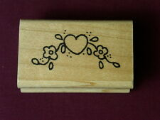 Rubber Stampede A909E Hearts Abound Love You  Tiny Heart Key Rubber Stamp Lot