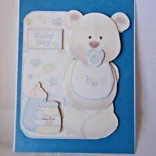 """""""Handmade""""card~ADORABLE 3D~BOY BEAR BABY CARD~By D~#B127"""