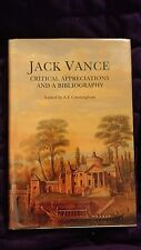 Jack Vance Critical Appreciations and Bibliography Cunningham 2000 HCDJ Signed #