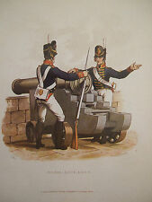 MILITARY POSTCARD-ROYAL ARTILLERY BY LT-COL CHARLES HAMILTON SMITH 1815