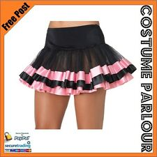 NEW Womens Ladies Sexy Black and Pink Petticoat Tutu Skirt Lingerie
