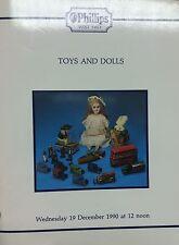 Phillips Auction Catalogue Toys & Dolls 19/12/90 Hornby Tinplate Railways