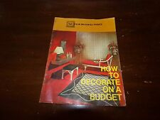 Vintage 1960's Diamond Paints How To Decorate On A Budget Booklet