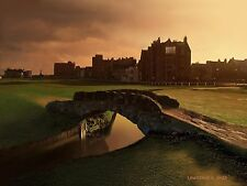 Classic Swilcan Bridge St Andrews Fife Links Golf Course Scotland Art Print Gift