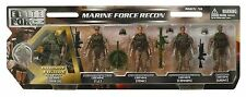 1:18 BBI Elite Force U.S Marine Force  Platoon Figure Soldier Set 3 3/4""