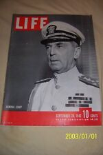 1942 LIFE Magazine ADMIRAL William LEAHY President Roosevelts CHIEF OF STAFF N/L