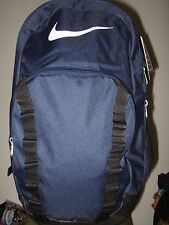 Nwt Navy Blue Nike Logo Brasilia XL Multi Pocket School Backpack Book Laptop Bag