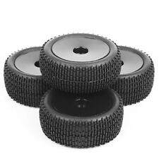4x RC 1/10  HSP Buggy Car Off-Road Front&Rear Tyre Rubber Tires Wheels Rims