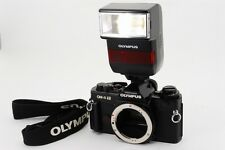 【Excellent++!!】 Olympus OM-4 TI Black 35mm SLR Body Only W/F280 Flash from Japan