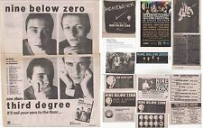 NINE BELOW ZERO : CUTTINGS COLLECTION -adverts-