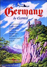 See Germany by Clipper Berlin European Vintage Travel Art Advertisement Poster