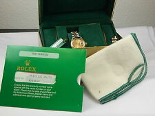 1983 LADIES ROLEX 18K & SS WATCH REF# 69173 BOX AND PAPERS QUICK SET