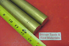 """2 Pieces 1-1/8"""" C360 BRASS SOLID ROUND ROD 13"""" long 1.125"""" H02 Lathe Bar Stock"""