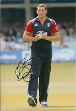 Tim BRESNAN Signed Autograph 12x8 Photo AFTAL COA Cricket England ASHES 1 Day