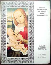 1967 ARTE CATALOGO DELLA VENDITA COLLEZIONE MAX WASSERMANN PARIGI QUADRI OGGETTI
