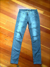 PAIGE Verdugo Women's Gray Silver Coated Stretch Jegging Jeans Sz 27 NEW