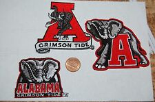 Alabama Crimson Tide  Logo Patches College 3 Patch Lot