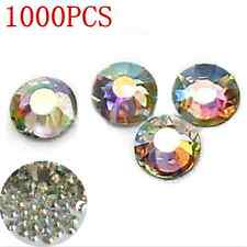 4mm 1000PCS Sexy Nail Art Flatback Crystal AB 14 Facets Round Rhinestone Beads