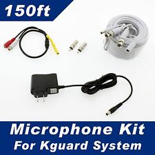 150ft Kguard Surveillance Security System Microphone Kit for All Kguard Systems