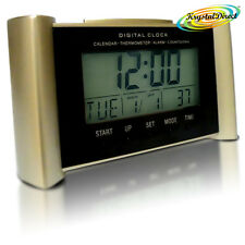 Digital Calendar Time Therm Lamp Alarm Snooze Countdown Clock Beige