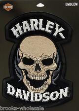 """HARLEY DAVIDSON DEVOUR SKULL Patch XXL10"""" X 7 1/2"""" RETIRED OBSOLETE DESIGN HD-62"""