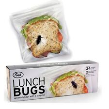 Fred & Friends Lunch Bugs 24 Sandwich Bags ZipLock Scary Gag Gift Office School