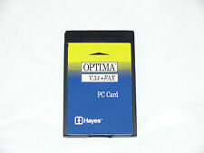 HAYES OPTIMA MODEM 16-BIT 56K + FAX YG01GB NOTEBOOK LAPTOP PCMCIA CARD UK SELLER