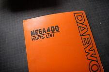 DAEWOO MEGA 400 Excavator Trackhoe Crawler COMPONENT Parts Manual book catalog