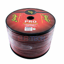 Stinger SPW516RB Pro Audio Speaker Wire 16 Gauge Cable 1000 ft Spool Red Black