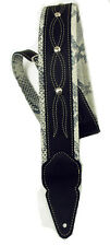 "LM OL-3 Outlaw ""Hitchhiker"" Series Snake Embossed Leather Guitar Strap"