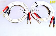 NEW QED  XT-400 AUDIO SPEAKER CABLES 2x1m (Pair) Terminated